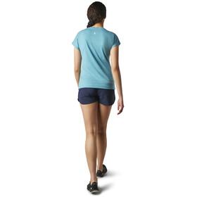 Smartwool Merino Sport 150 Castles In The Stratosphere T-shirt Dames, dark wave blue heather
